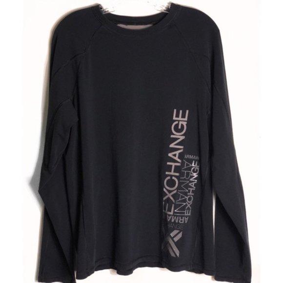 Armani Exchange Other - ARMANI EXCHANGE Logo Spellout Black Long Sleeve XL
